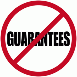 no guarantees symbol